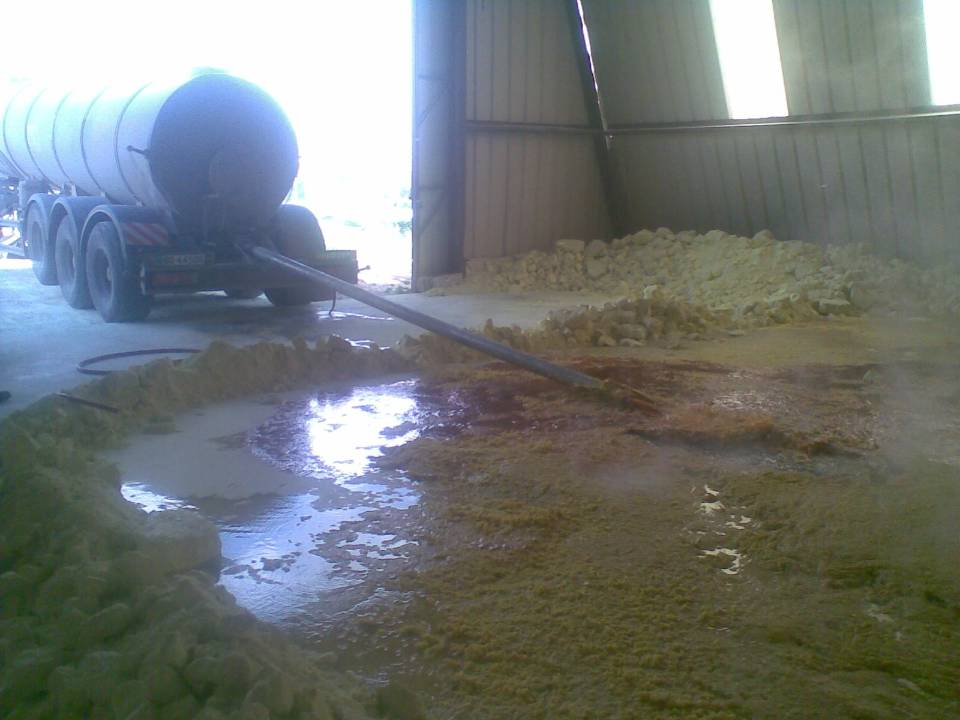 Sulphur - Unloading process